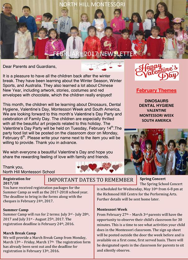 february 2017 school newsletter photo